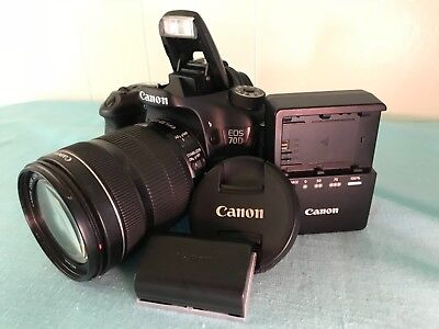 Canon EOS 70D 20.2MP Digital SLR Camera - (Kit w/ EF-S 18-135mm) Great condition