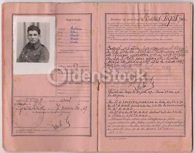 French Infantry Soldier Vintage Cancelled Military Passport 1949