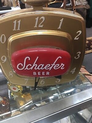 Electric Schaefer Beer Clock- As Is