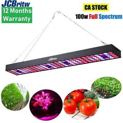 LED Grow Light Panel 45W Full Spectrum with UV& IR JCBritw Indoor Growing Lamps