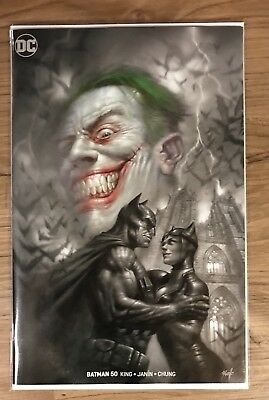 Batman #50 Lucio Parrillo BW Splash Variant Catwoman Joker Wedding Issue