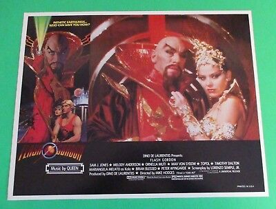 "FLASH GORDON MOVIE ORIGINAL 1980 14"" x 11"" Lobby Card NEAR MINT (NM) QUEEN (B)"