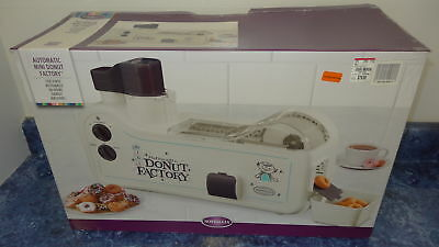 Nostalgia Electrics Automatic Mini Donut Factory Maker Machine ( Untested AS-IS)