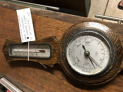 antique barometer thermometer