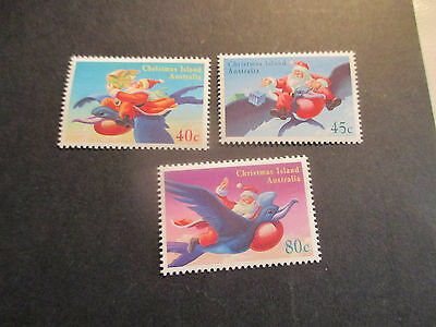 1--1995 Christmas  Island  -Christmas  Issue 3 Stamps --Mint--Mnh-A1