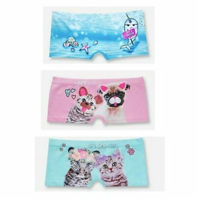 NWT Justice girls size 12-14 Oh So Soft shorties underwear (3) pair lot 12 14