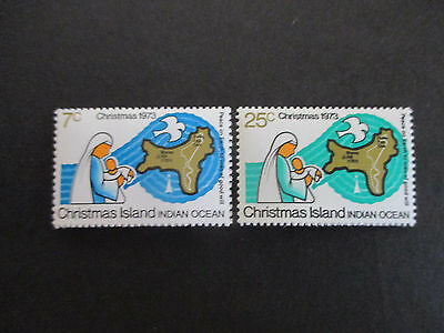 1--1973  -Chris; Island  --Christmas  Issues-- F/s  Mint  2  Stamps -Mnh  -A1