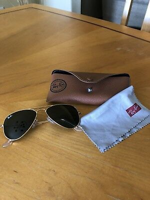 f9693c3088 RAY BAN 3044 New Small Aviator Gold L0207 52mm Petite Authentic ...