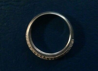 The Vintage Ladies Sterling Silver   Ring With Small Stones. 1.66 Gramm Size 5.5