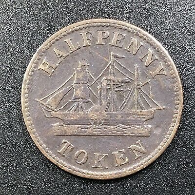 1850's Canada Fisheries and Agriculture - Half Penny Token