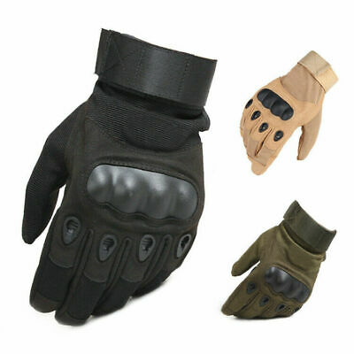 Tactical Hard Knuckle Gloves Men's Army Military Combat Airsoft Hunting Shooting
