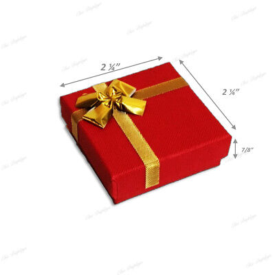 Red Box Red Earring Box Bow Tie Gift Box Jewelry Box Pendant Box <Hot Deal>