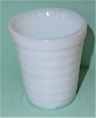 Akro Agate Stacked Disc White Tumbler/Glass