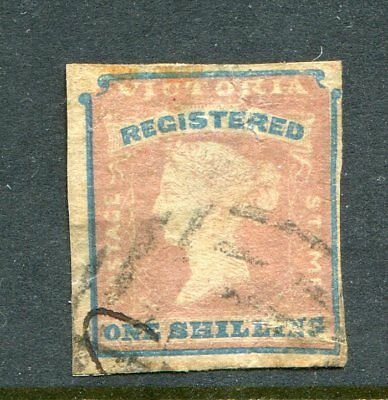 Victoria 1855 1S Registered Imperf Used...fair Example