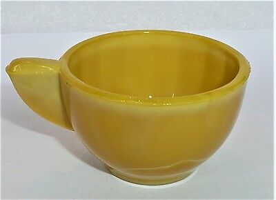 Akro Agate Large Interior Panel Yellow Cup ~ Children's Tea Set ~ 7 Available