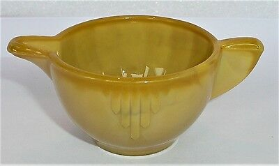Akro Agate Large Interior Panel Unusual Mustard Yellow Creamer ~ Child's Tea Set