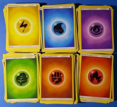 Pokemon 10x Water Basic Energy Cards Sun and Moon NM//M