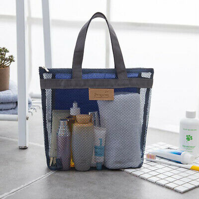 Toiletry Tote Bag Portable Cosmetic Makeup Pouch Travel Mesh Shower Organizer