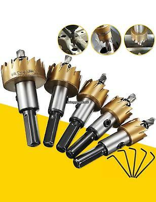 16-30mm Tooth Titanium Plated Steel Hole Saw Drill Bit Set for Wood EH7E
