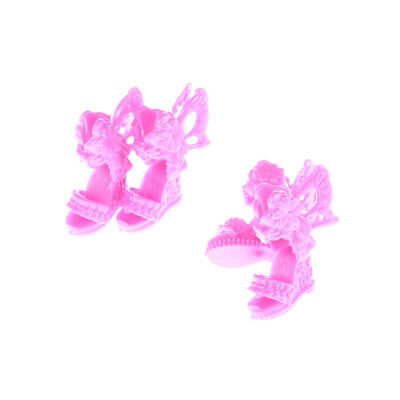 4 Pair Barbie Shoes Butterfly Wings Design Doll Shoes Barbie Dolls Accessories F