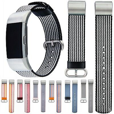 Nylon Fabric Watch Strap Wristband Bracelet For Fitbit Charge 2 Fitness Tracker