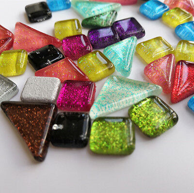 Colorful Glitter Crystal  Mosaic Tiles Material For DIY Children Creative Craft
