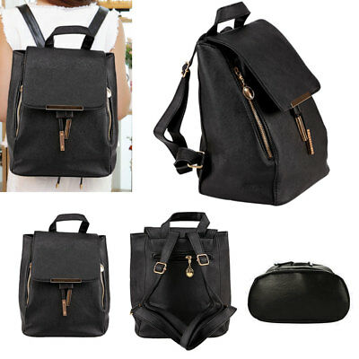 Lady Women Leather Backpack Fashion Rucksack College Shoulder Satchel Travel Bag