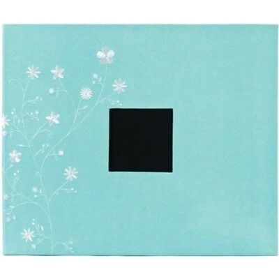 American Crafts 12-inch By 12-inch D-ring Cloth Scrapbooking Album, Robin's Egg