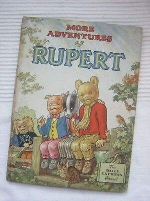 More Adventures Of Rupert - 1953 Annual - Very good condition