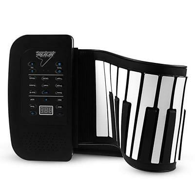 Rechargeable 61 Keys Silicon Flexible Roll Up MIDI Electronic Piano Design Kids