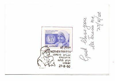 India Saint Teresa Autograph On Vip Folder With 1980 Stamp First Day Cancel