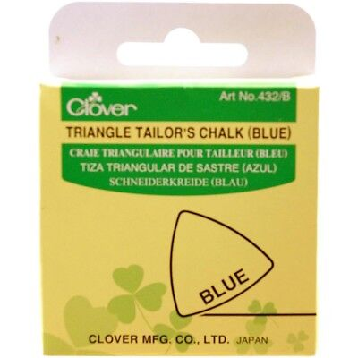 Clover Triangle Tailors Chalk, Blue - Chalk Fabric Craft Quilting Tracing