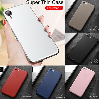 For iPhone Xs Max Xr X 8 7 Plus Shockproof Clear Slim Soft TPU Case Black Cover