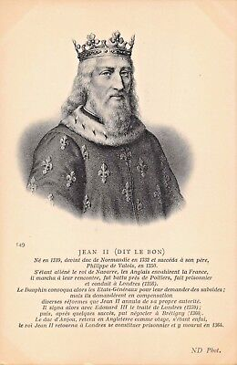 Jean Ii Dit Le Bon-House Of Valois-King Of France Photo Postcard