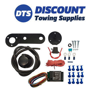 Universal Single 7 Pin Electric Towbar Wiring Kit including bypass relay