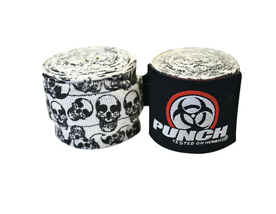 New Punch Urban Hand Wraps 400Cm Skull Boxing & Mma Gear Sports Body Protection