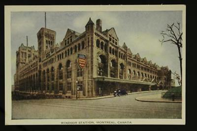 Vintage Paper Postcard WINDSOR STATION Montreal Canada Pacific Railroad