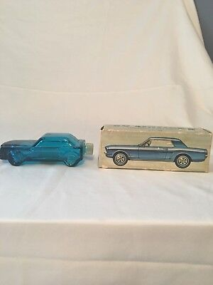 Vintage Ford Mustang 1964 Avon After Shave Glass Bottle Car Antique 64 With BOX