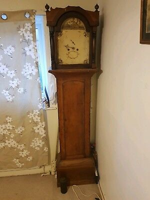 Grandfather Clock 1750 kent Tunbridge clock with all parts brass fittings enamel