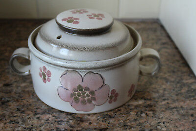 Denby - Gypsy - 2 Pint Lidded Casserole Pot With Hooped Handles - Exc Cond.