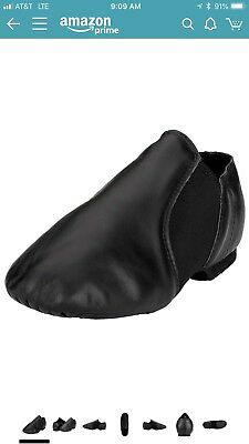 MSMAX Toddler Jazz Shoes Size 8 Black
