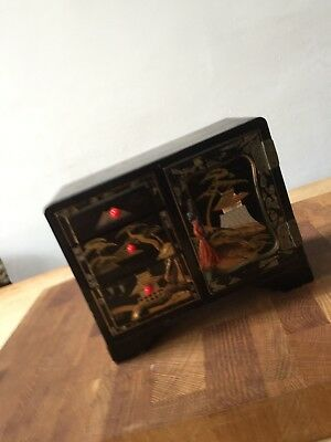 Vintage Musical Box Jewellery Chinese/ Japanese  Chest Style