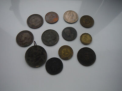 Job Lot of 12 Assorted Coins British and Foreign