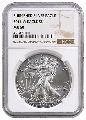 2011-W 1 oz. Burnished American Silver Eagle $1 NGC MS69 SKU24167