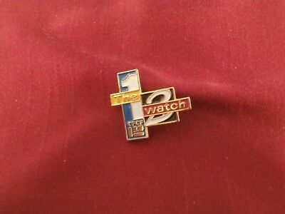 Vtg CTV CFCF 12 The Watch Logo Blue Enamel Pin Canadian Television