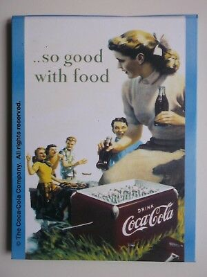Vintage Coca Cola Fridge Magnet Locker Magnet Flip Up Phone List