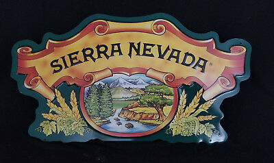 """Sierra Nevada Beer Tin / Sign - Embossed 20"""" w x 11"""" h: In Very Good Condition"""