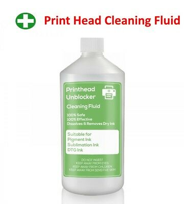 Print Head Cleaning Fluid. Unblocks HP Printer Nozzles 500ml Cleaner 17 ounce