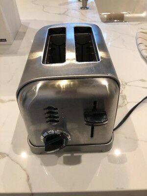 Cuisinart Toaster Pop Up Stainless Steel 2-Slice CPT-160 Wide Slot Bagel Defrost