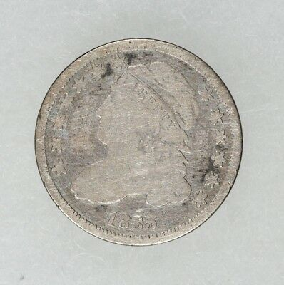 1835 Capped Bust Dime 10C Good Details Cleaned (6540)